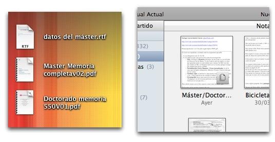 Varios documentos en tu escritorio contra una sola nota en Evernote